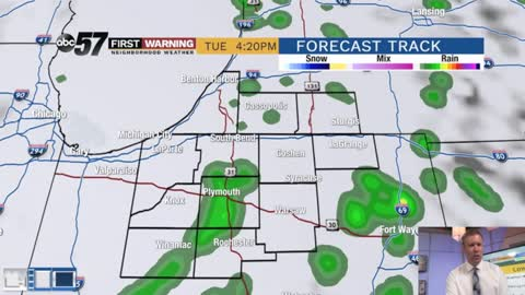 Ups and downs with showers midweek